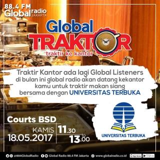 Global Traktor bersama Universitas Terbuka di Courts BSD