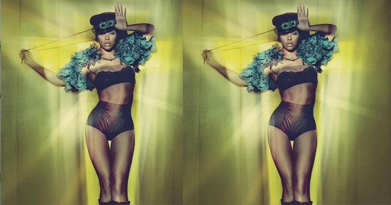 Foto Penampakan Beyonce Hanya Kenakan Lingerie Hitam