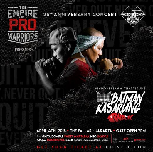 25th Anniversary Concert BATMAN KASARUNG - IWA K #indonesianwithattitude