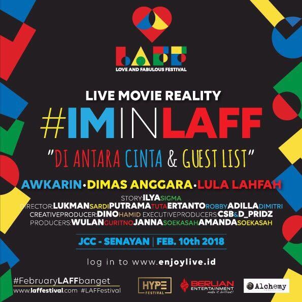 Pertama kali di Indonesia Live Movie Reality di LAFFestival Nonton film