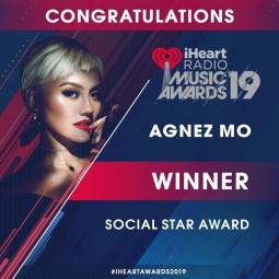 Keren! AgnezMo Menang Di iHeartRadio Music Awards 2019