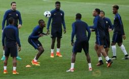 Latihan Timnas Prancis Jelang Laga Kontra Albania