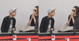 Hangout dengan Anak, Angelina Jolie Pilih Gaun Hitam Minimalis