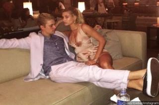 Justin Bieber dan Hailey Baldwin HTS-an