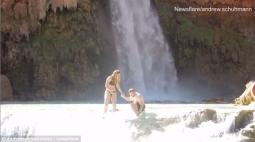 KOCAK!! Niat Ingin Romantis, Malah Apes Gara-Gara Cincin Lamaran Hilang di Air Terjun Havasupai